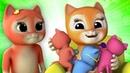 три маленькие котята | кот песня | детские стишки | Three Little Kittens | Kids ABC TV Russia