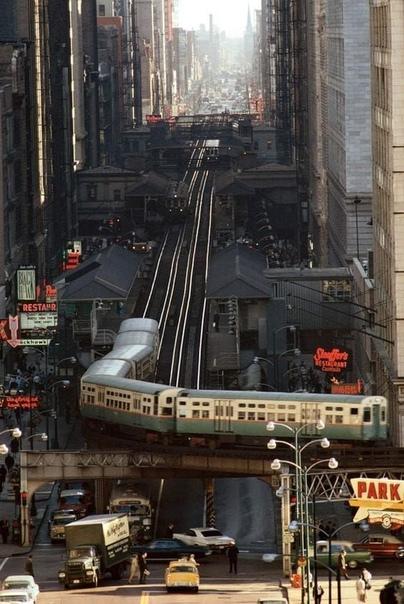Снимок улицы в Чикаго, 1967 г.