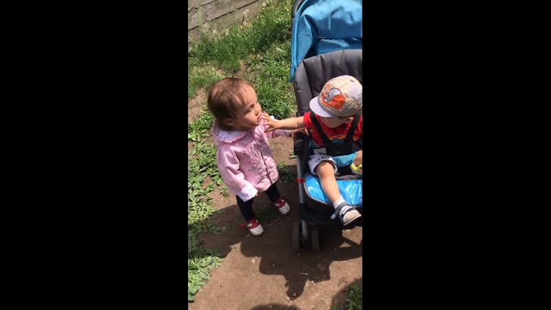 Тетя и племяш🥰Кристина и Рома 💕💕💕