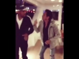 Will Smith dancing salsa with Marc Anthony