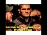 That one time after former UFC champion Conor McGregors fight against Aldo..... someone in the MMA crowd was not impressed. - -
