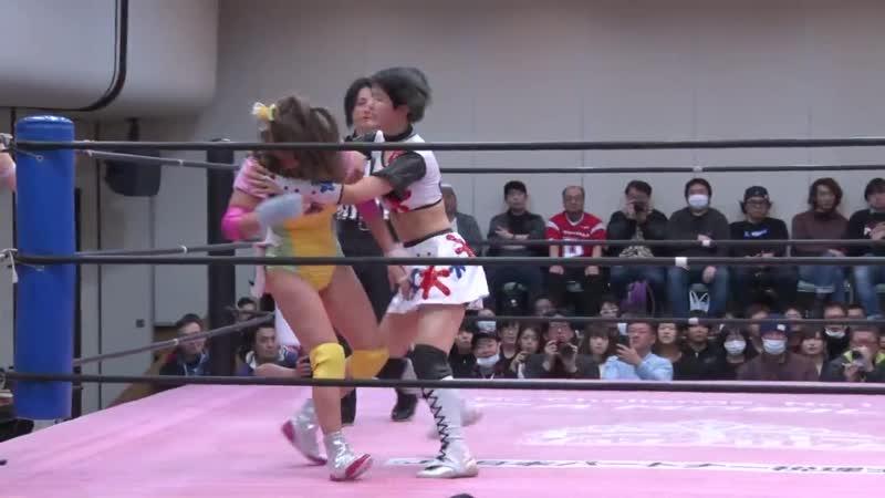 Himawari Unagi Mahiro Kiryu vs. Miyu Yamashita YUMI - TJPW Spring Tour 19 - Ready Set, GO!
