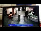 Видео нападения Бориса Грица на охрану радиостанции «Эхо Москвы».