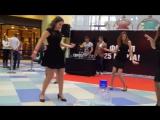 Видео #7 100 девушек станцевали в ТЦ Ауре перед жюри конкурса Мисс Европа плюс