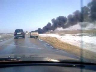 Десять кубических метров дизельного топлива превратилось в дым