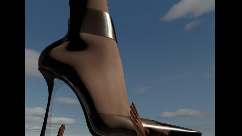 Transparentism Giantess High Heel Trample