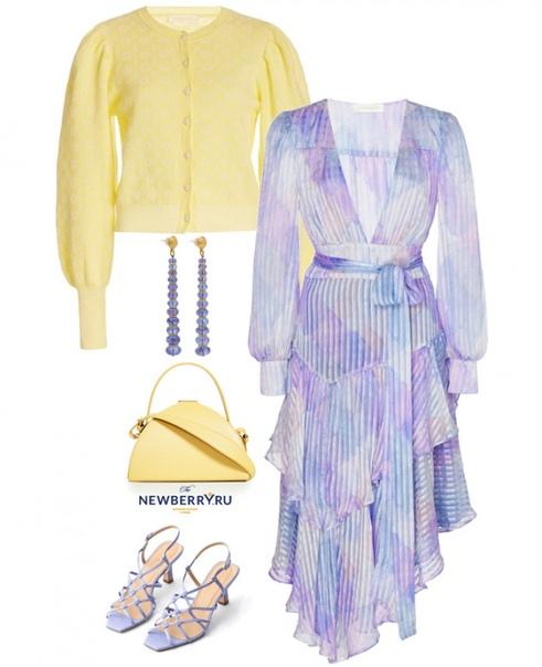 Вдохновляющие сочетания красивых и модных оттенков желтого и фиолетового цветов...