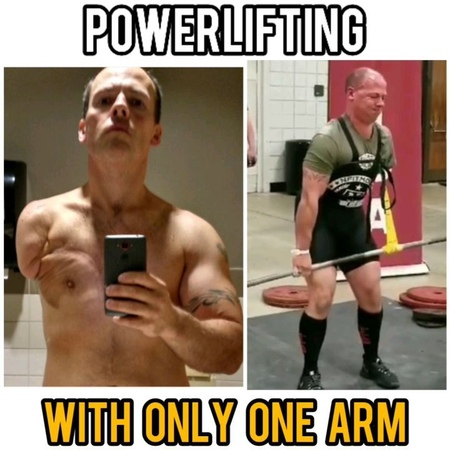 """POWERLIFTING LEGENDS on Instagram """"@1armlifts kicking ass with only one arm 👊 whats your excuse . . . . powerliftingsquatdeadliftipfpo..."""