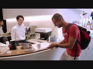 Подача кофе в Японии при помощи современных технологий - vk.com/p.obrazovanie