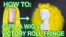 How To Pinup Victory Rolls Wig Styling Tutorial