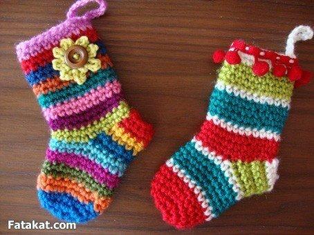 Носочки малышам из остатков пряжи (9 фото) - картинка