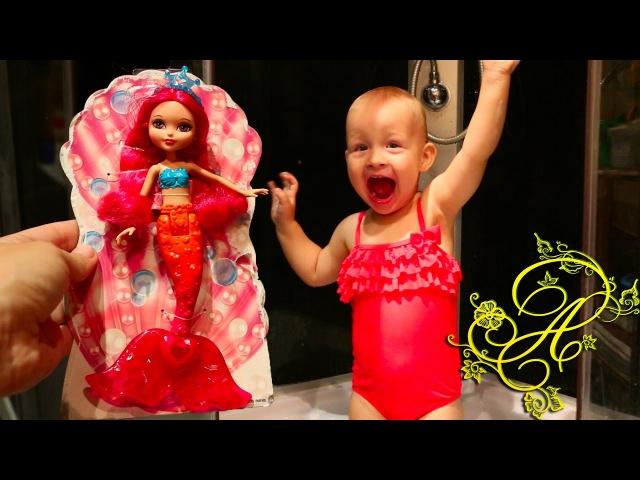 БАРБИ русалка распаковка куклы сюрпризов Лител Пони и Королевские Питомцы Barbie Mermaid doll