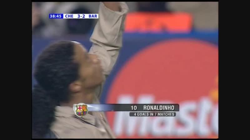 RONALDINHO Goal vs Chelsea 2005