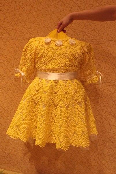 Яркое,весеннее платье для девочки. (5 фото) - картинка
