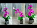 65) Ide kreatif - bunga anggrek dari stocking || bunga hiasan rumah || nylon stocking flower making
