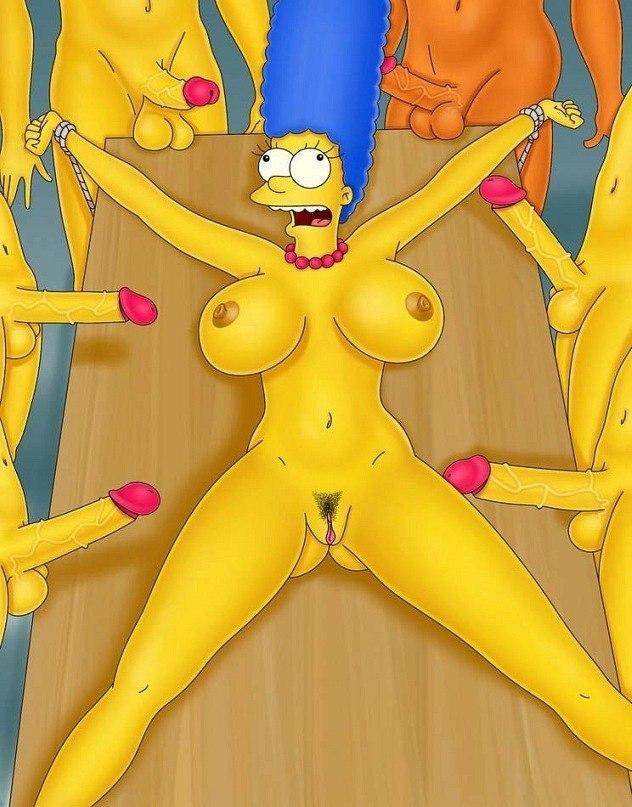 Мардж Симпсон голая фото - Эротические порно мультики и секс комиксы в 3D и