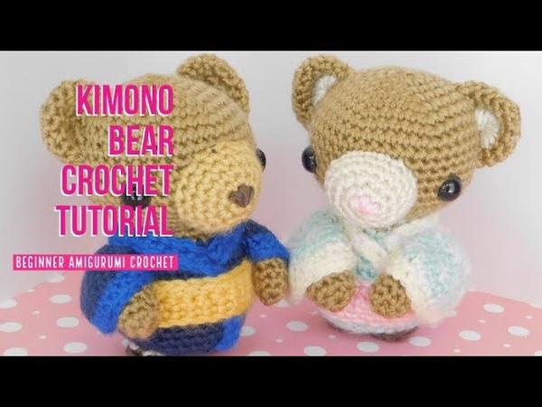 Kimono Bear Amigurumi Crochet Tutorial Collaboration with Billy Matsunaga Part 1