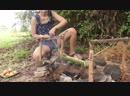 Идеи для приготовления куриного яйца в бамбуке Ideas Cooking Chicken Egg in Bamboo