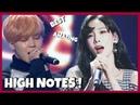 KPOP IDOLS BEST HIGH NOTES IN LIVE PERFORMANCE 1 BTS GFRIEND EXO SNSD BTOB ETC