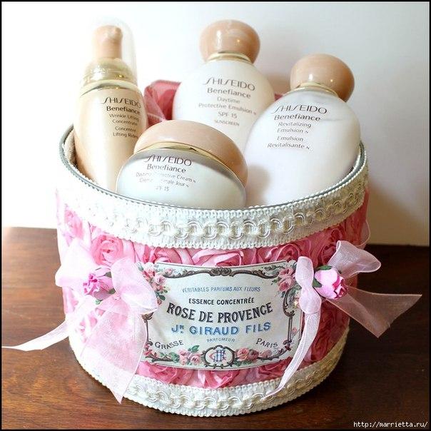 Нежный розовый декор железной коробки (7 фото) - картинка