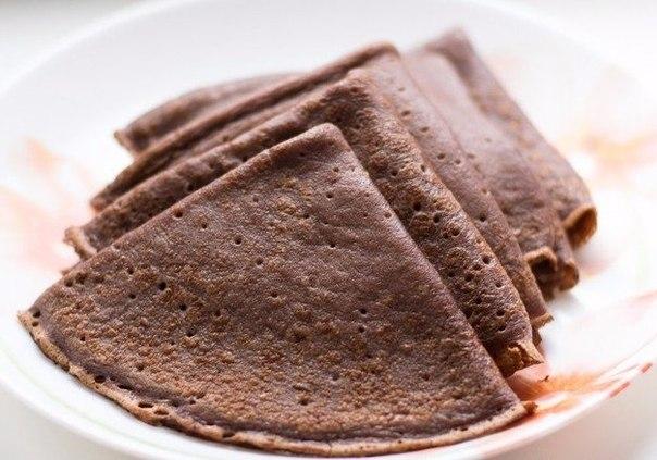 шоколадные блины рецепт с фото с какао