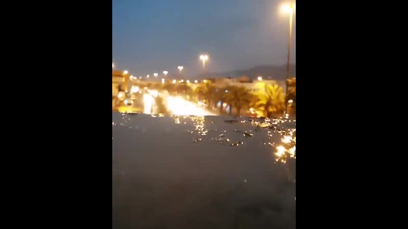 المدينة الآن أمطار خير وبركة 💙💦
