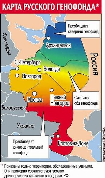 Карта русского генофонда