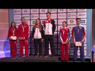 2017 European Championship 10m, Maribor, Slovenia Victory Ceremony, Air Rifle Mixed Team Junior