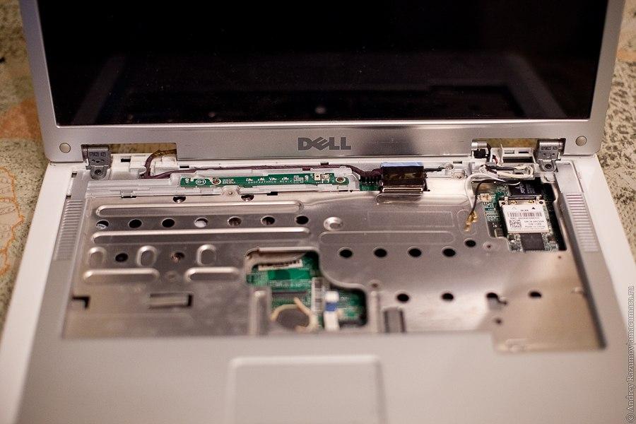 Dell inspirion почистить ноутбук разобрать