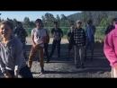 Утренняя разминка танцем в лагере Горная семейка, 3 смена лето 2018