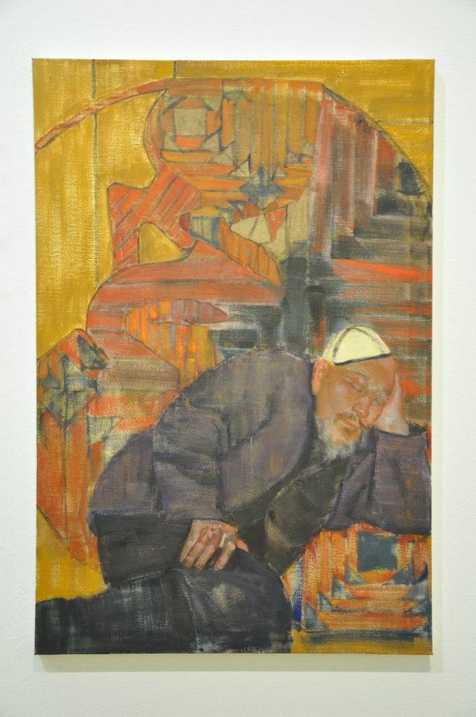 Союз художников Республики Казахстан  Нурбол Нурахмет (р. 1986)  Время. 2012  Холст, масло