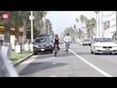 Goldie Hawn Kurt Russell ride bikes together in Santa Monica