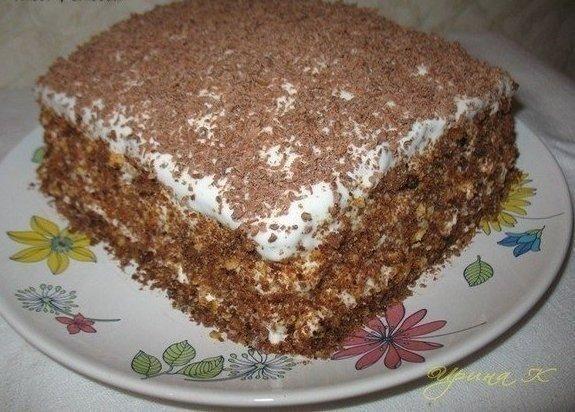 """ТОРТ """"МЕЧТА ЖИЗНИ"""" 10 минут Нравится всем, кто бы не попробовал!! Ну, очень вкусный торт!!! Готовится легко и быстро!!! Съедается еще быстрее))))))) Ингредиенты: - 2 яйца Смотреть рецепт полностью.. »"""