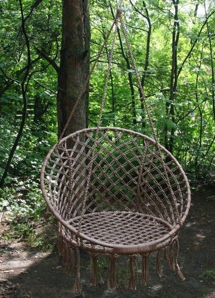 Подвесное кресло-гамак (макраме) ARUBA.