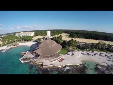 Epic 4k Drone Footage DJI Phantom 2 GoPro Hero4 Black wGimbal Over Cozumel Hotel Beaches l