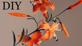 Тигровые лилии из бумаги DIY Crepe Paper tiger lily Tutorial