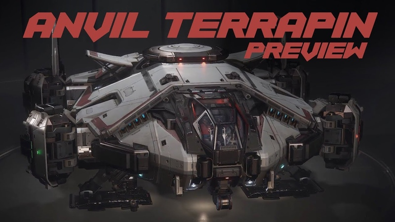 Anvil Terrapin Ship and Damage Model Preview Star Citizen