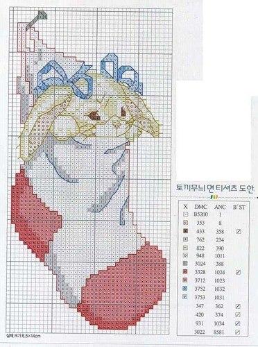 Схемы для вышивки зайчиков