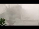 Мощный влажный шквал Wet Downburst в городе Шиофок Венгрия