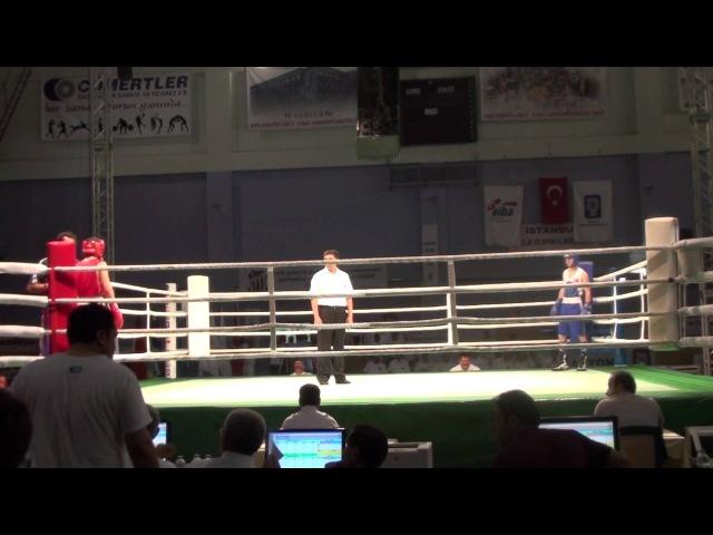 2011 Ahmet Cömert-Boks turnuvası Berat Şimşek-Turkey VS Majit Abdul Sweden