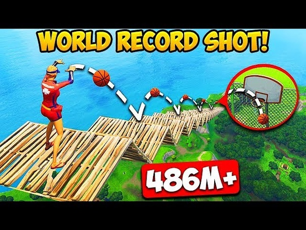 *MAX HEIGHT* BASKETBALL SHOT RECORD! (486M) - Fortnite Funny Fails and WTF Moments! 257