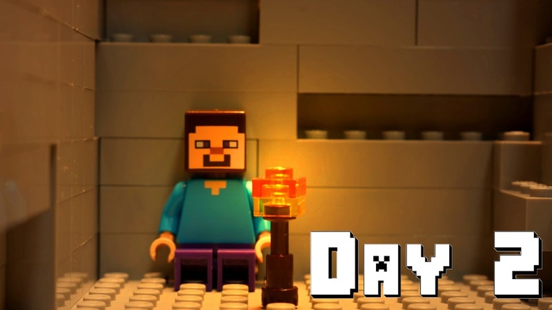 LEGO Minecraft Survival Day 2 Stop Motion Animation