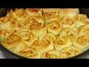 ПИРОГ с Фаршем под Сырным Соусом Закусочный пирог