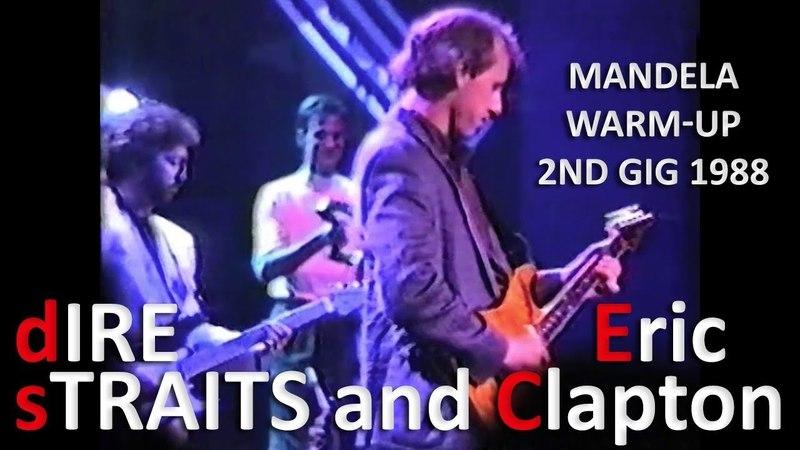 [60 fps] Dire Straits and Eric Clapton — 1988 — Mandela warm-up 2nd gig