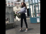 Stretch Fashion Women Casual Loose Harem Pants Elastic Wasit Black And Gray Long Trousers Sweatpants with Pockets Patchwork801