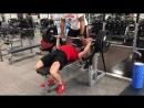 Негативные повторения 140 кг на 3 раза