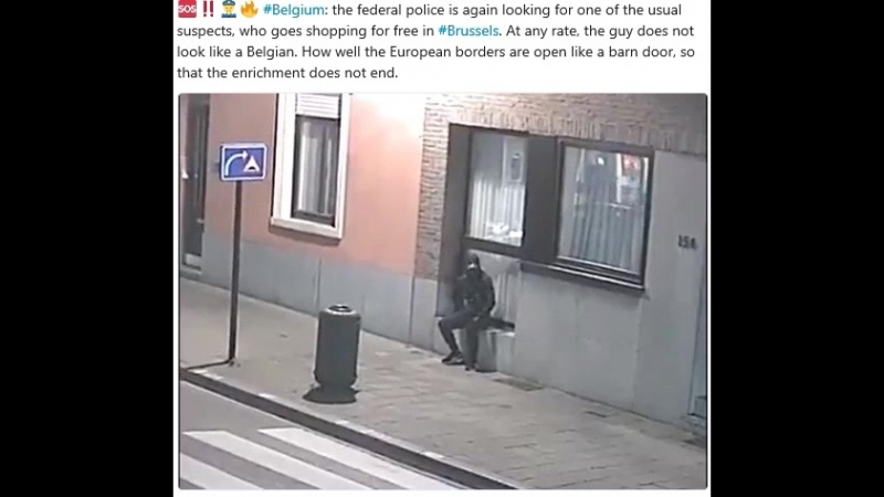Belgium: the federal police is again looking for one of the usual suspects, who goes shopping for free in Brussels. At any rate