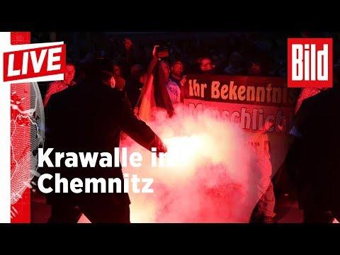 🔴 BILD Live: Krawalle in Chemnitz - Polizei hält Hunderte Demonstranten auseinander