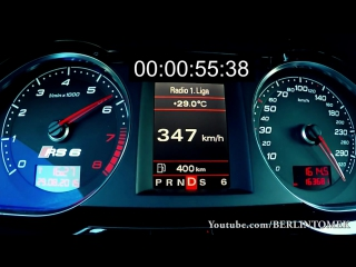 Audi RS6 Acceleration 0-340