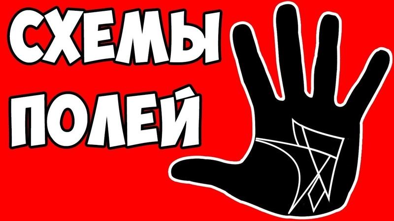 СХЕМЫ ПОЛЕЙ на руках / хиромантия / Кладезь Хиромантии